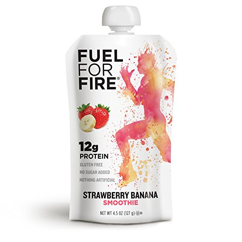 Fuel For Fire, fruit & whey protein snack, Sports Nutrition 4.5 ounce (Strawberry Banana, 12-Pack)