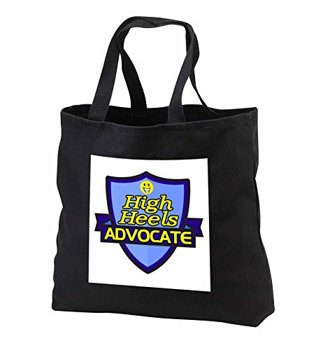 Price comparison product image Dooni Designs – Funny Sarcastic Advocate Designs - High Heels Advocate Support Design - Tote Bags - Black Tote Bag 14w x 14h x 3d (tb_242658_1)