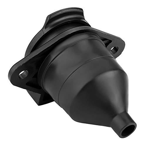 7 Round Pin Socket Adapter Plug,KIMISS 24V 7 Pin Die Cast Heavy Duty Trailer Socket Connector Adapter for Car Semi Trailer Truck