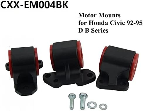 For 96-00 Civic B16 B18 B20 B18A B18C D-B Engine Polyurethane Motor Mounts Red