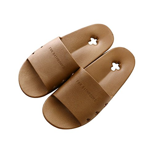 TELLW men and women Summer Home slippers indoor non-slip bathroom slippers Ladies bath Leakage Slippers Coffee BjYv0hLgjt