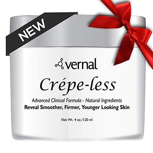 41tMmaIuN6L - Crepe-less skin firming cream to repair crepey arms and neck. Best tightening cream to erase crepy skin on arms, neck and body. Best moisturizer to treat saggy, crepe skin. Made in USA
