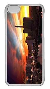 Customized iphone 5C PC Transparent Case - Tower Eiffel Las Vegas Personalized Cover