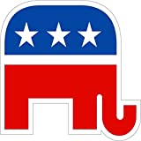 "Republican Party political bumper sticker decal 4"" x 4"""