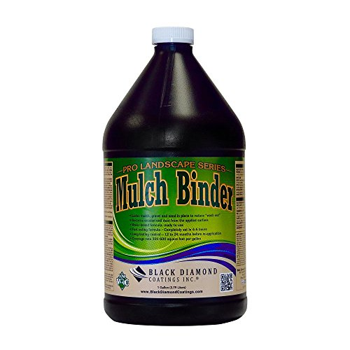 Mulch Binder Pro Landscape Series Adhesive Ready To Use - Locks Mulch, Pea Gravel. Water-Based Fast Acting Formula For Long Lasting Landscape Edging by BLACK DIAMOND COATINGS INC. (1 Gallon) (Binder Series)