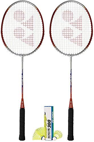 (Yonex Badminton Combo Set 2-B350 and 1-Mavis 300 Yellow)