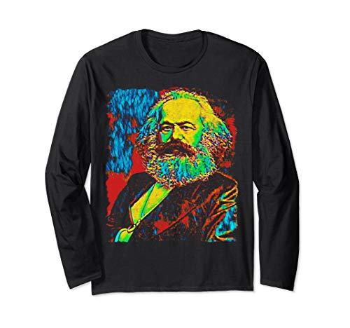 Karl Marx Tshirt Marxist Marxism Communist Tees Long Sleeve T-Shirt (Karl Marx Wrote The Communist Manifesto As)