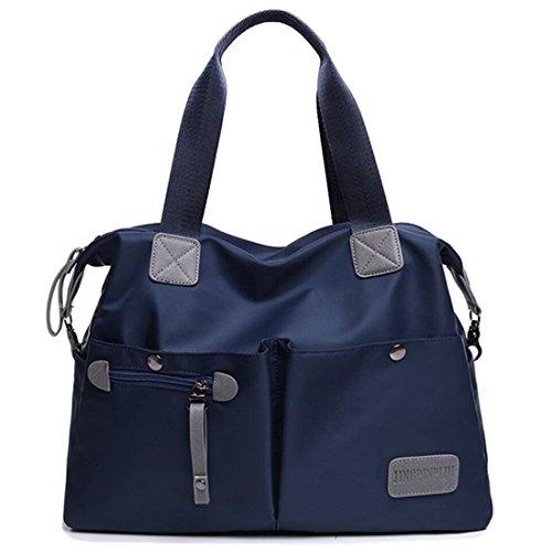 Tote Laptop Water Women's YouNuo Handbag Handle Bags Top Bag Crossbody Nylon Resistant Blue Shoulder xCfqXvU