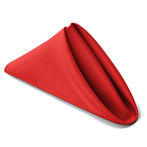 TableLinensforLess 17x17 Inch Cloth Napkin - 6 Pack (Red) -