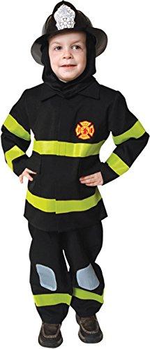 Deluxe Fire Fighter Dress Up Children's Costume Set Size Black: Toddler 4