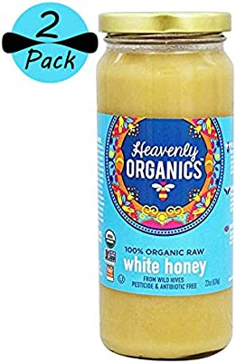 Heavenly Organics - 100% miel blanca cruda orgánica (22 oz ...