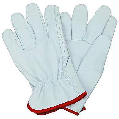 Goatskin Driving Gloves Natural Leather Driving Gardening Work Size LARGE
