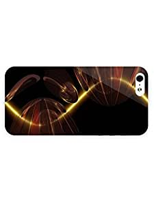 Free Shipping iPhone 5/5s Case Abstract Light with Full Wrap