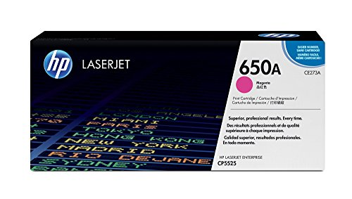 HP 650A (CE273A) Magenta Toner Cartridge for HP Color LaserJet Enterprise CP5525 M750