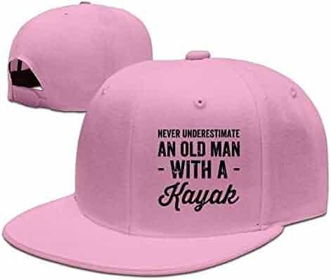 FoCnon Never Underestimate an Old Man with A Kayak Adjustable Washed Cap  Cowboy Baseball Hat Ash 190259594061