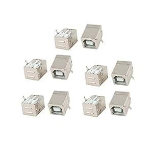 10 Piezas PCB Soporte 90 Grados 4 Pines USB 2.0 Tipo B Hembra Jack Hembra