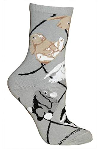(Bunnies Grey Ladies Socks)