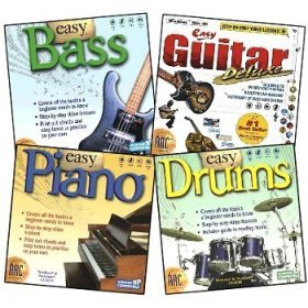 Learn to Play Instruments 4 Pack (Piano, Bass, Guitar & ()