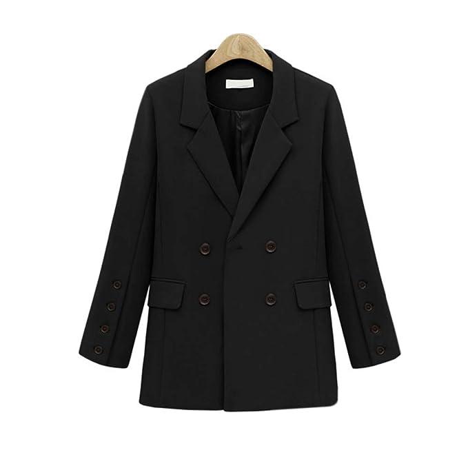 Amazon.com: Chaqueta para mujer MYDAFA manga larga traje de ...