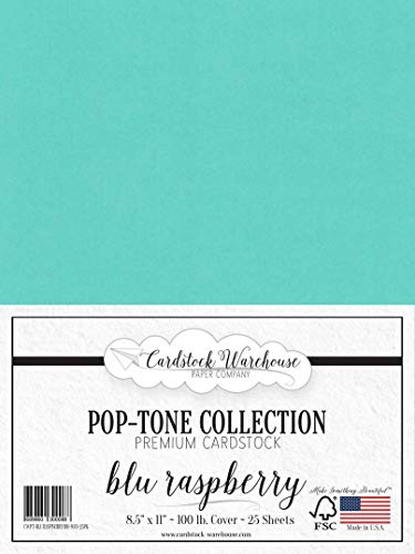 (BLU Raspberry/Teal Blue Cardstock Paper - 8.5 x 11 inch 100 lb. Heavyweight Cover -25 Sheets from Cardstock Warehouse )