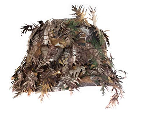 QuikCamo Realtree Xtra Camouflage 3D Leafy Bucket Hat Hunting Face Mask Combination (Med, 58cm, 7 3/8) by QuikCamo (Image #2)