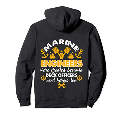 Marine Engineer Gift Proud Marine Engineer Pullover Hoodie