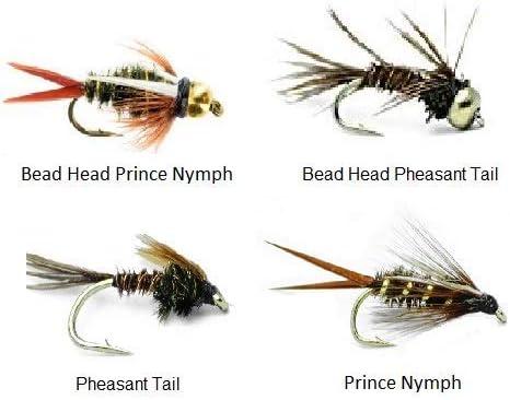 X4 L//S Orange Montana Nymph Fly Size 10 Trout Fishing Flies.