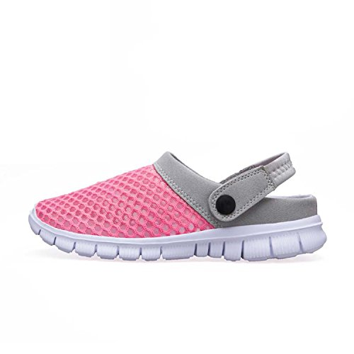 WAWEN Men and Women's Summer Breathable Mesh Sandals,Durable Slippers,Beach Footwear,Outdoor,Walking,Garden Clog Shoes for Couples Pink 38 EU/8 B(M) US Women by WAWEN