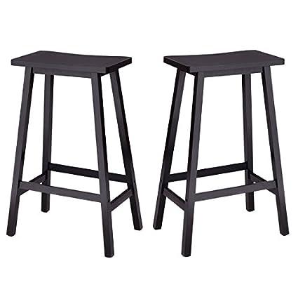 Amazoncom Bar Stools Saddle Seat 29 Inch Backless Counter Height