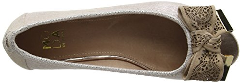 Moda in Pelle Gabrio, Peep-Toe Femme Or (Rose Gold)