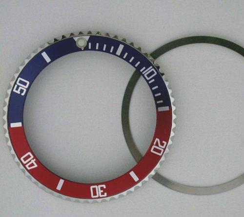 Bisel + insertar para Tudor Submariner 76100, 94010 azul/rojo
