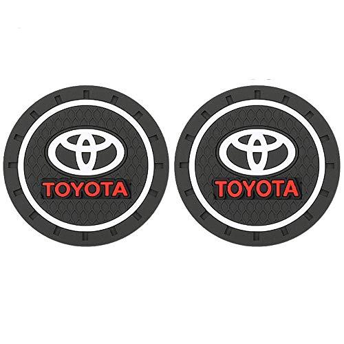 2 Pack Car Interior Accessories Anti Slip Cup Mat for Toyota Cup Holder Insert Coaster – Silicone Anti Slip Cup Mat For Toyota 86 Camry Yaris Corolla 4Runner RAV4 Highlander Land Cruiser Prius( 2.75″