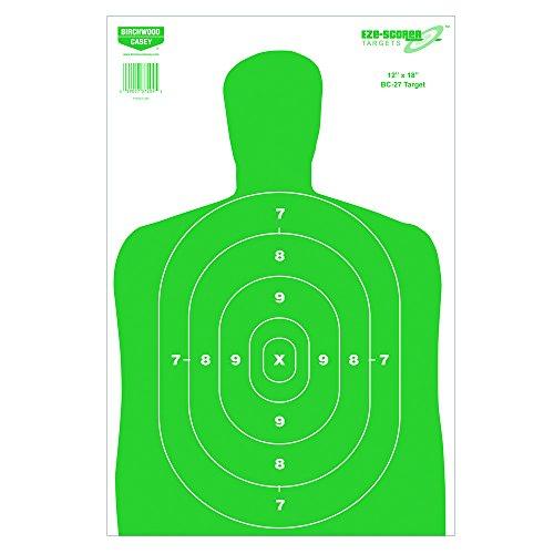 Birchwood Casey Eze-Scorer BC27 Paper Target (Per 100), 12 x 18-Inch, Green (Bc27 Paper)