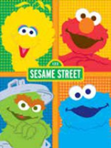 Blanket 60X80 Sesame Street ABC Elmo Big Bird Cookie Moster Osca (Bird Big Cookie Elmo)