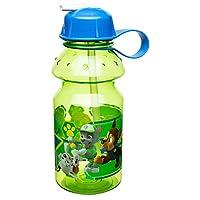 Zak Designs Paw Patrol 14 oz Botella de agua para niños con paja - Libre de BPA con diseño fácil de limpiar, Paw Patrol Boy
