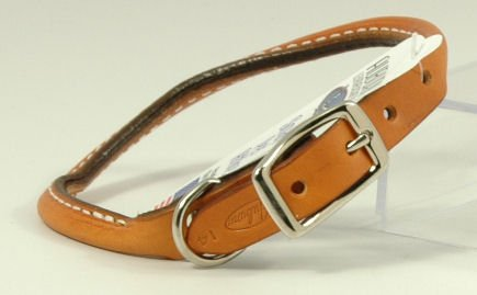 - Round Dog Collar Color: Tan, Size: 0.63