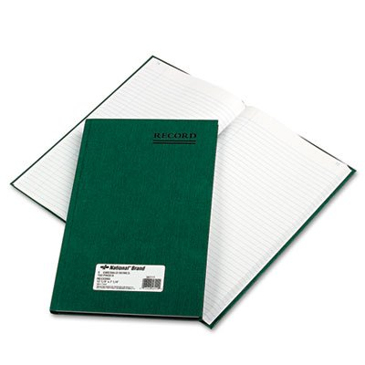 National 56111 Emerald Series Account Book Green Cover 150 Pages 12 1/4 x 7 1/4 (Ledger Business Rediform)