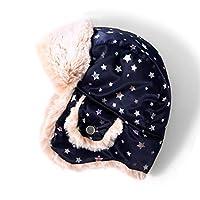 accsa Kids Girls Winter Trapper Earflap Warm Soft Faux Fur Lined Trooper Reflective Beanie Hat 6-9YR