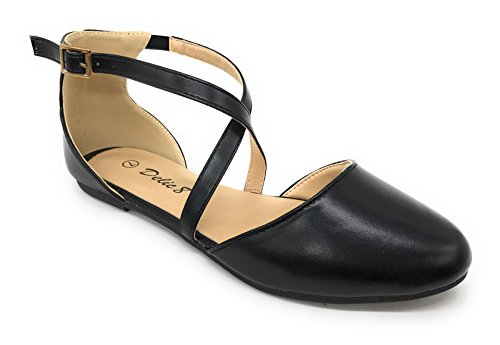 Bleu Berry Easy21 Femmes Casual Appartements Ballet Cheville Sangle Chaussures De Mode Black73
