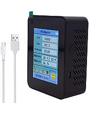zhiwenCZW Draagbare CO2-detector kooldioxide, TVOC-waarde, elektriciteit, hoeveelheid temperatuur, luchtvochtigheid, huishoudelijke luchtkwaliteitsmonitor, CO2-meter