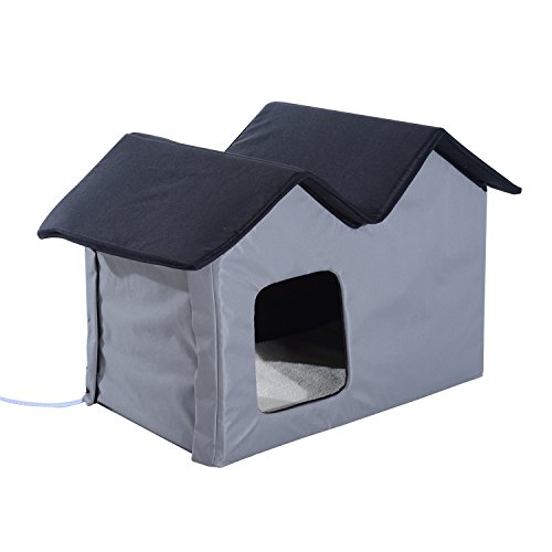 Pawhut Heated Outdoor Cat Shelter