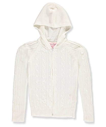 Pink Angel Big Girls' Hooded Cardigan - off white, - Cardigan Hooded Girls