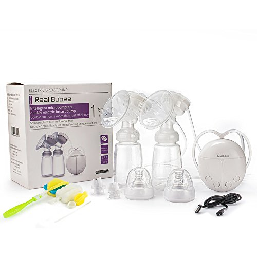 Real Bubee Double/Single Electric Breast Pump-2 Mode Suction & Automatic Massage