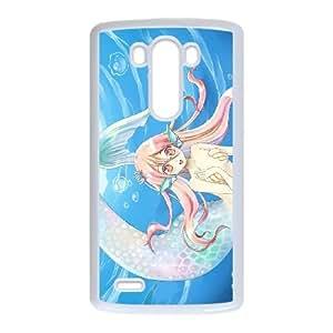 Anime Mermaid LG G3 Cell Phone Case White Phone cover V92797224