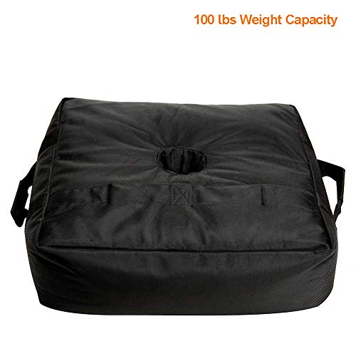 C-Hopetree Umbrella Base Weight Sand Bag for Anchoring Patio Offset Cantilever Umbrellas Flagpole Square Black