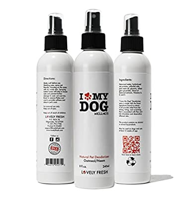 Dog Deodorizer Spray - All Natural Grooming Product with Oatmeal and Neem Oil - Keeps Dog Fresh and Itch Free Between Baths - Relieves Skin Irritation - For Sensitive, Dry and Itchy and Normal Skin - Premium High Quality