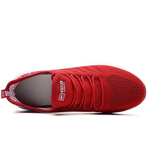 Hommes Espadrille Espadrilles Sport Rouge Chaussures Fexkean Rue De Course Femmes wpPpqOS0n