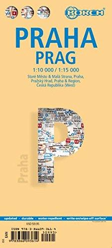 Laminated Prague Map by Borch (English Edition)