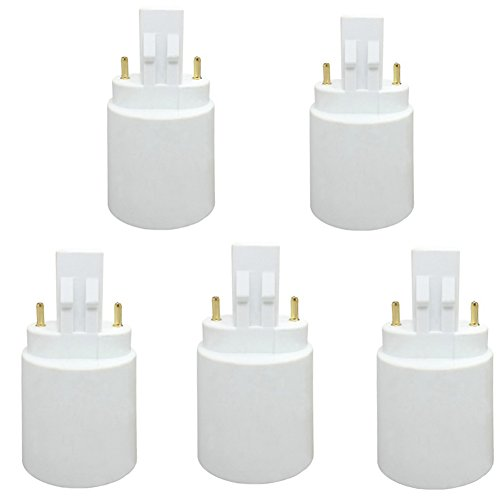 GX23 To E27/E26 LED Light Sockets Adapter, Light Bulb Socket, Bulb Base Adapter, Converters Lamp Holder (Pack of 5)