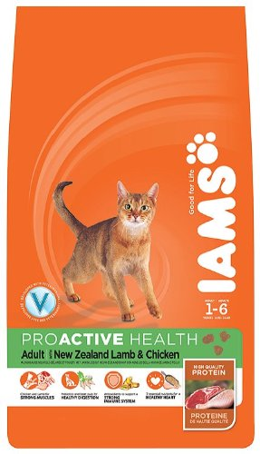 Iams Dry Cat Food Adult Lamb 1 Kg (Pack of 4)